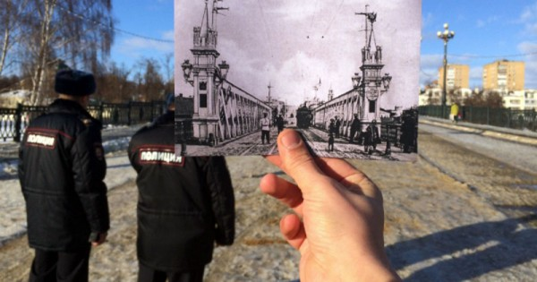 Пост городового на Александровском мосту через реку Орлик в створе Карачевской улицы. В настоящее время здесь проходят маршруты патрулирования нарядов патрульнопостовой службы полиции.
