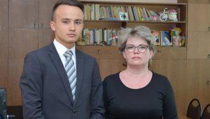 Степан Бильков с педагогом С. А. Ильиной, гимназия № 39