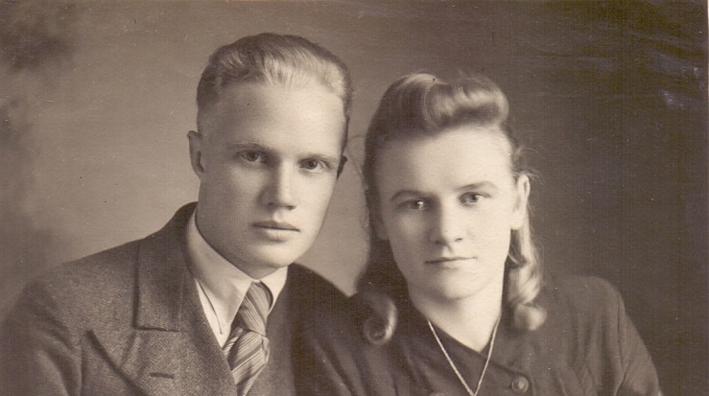 1956г Ю. Докукин с супругой